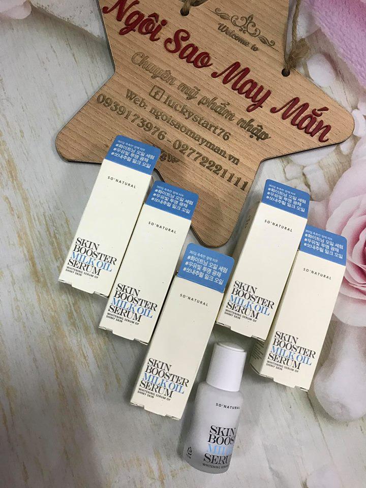 Serum Dưỡng Ẩm Và kích trắng Da Trắng Sáng So Natural Skin Booster Milk Oil Serum