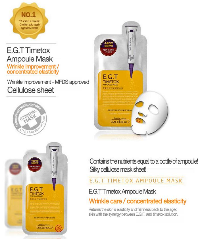 Mặt Nạ Chứa Chất E.G.T Giúp Tái Tạo Da Mediheal E.G.T Timetox Ampoule Mask Ex