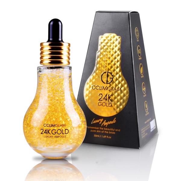 Siêu Tinh Chất Chiết Xuất Từ Vàng 24K CCLIM GLAM 24K Gold Luxury Ampoule 50g