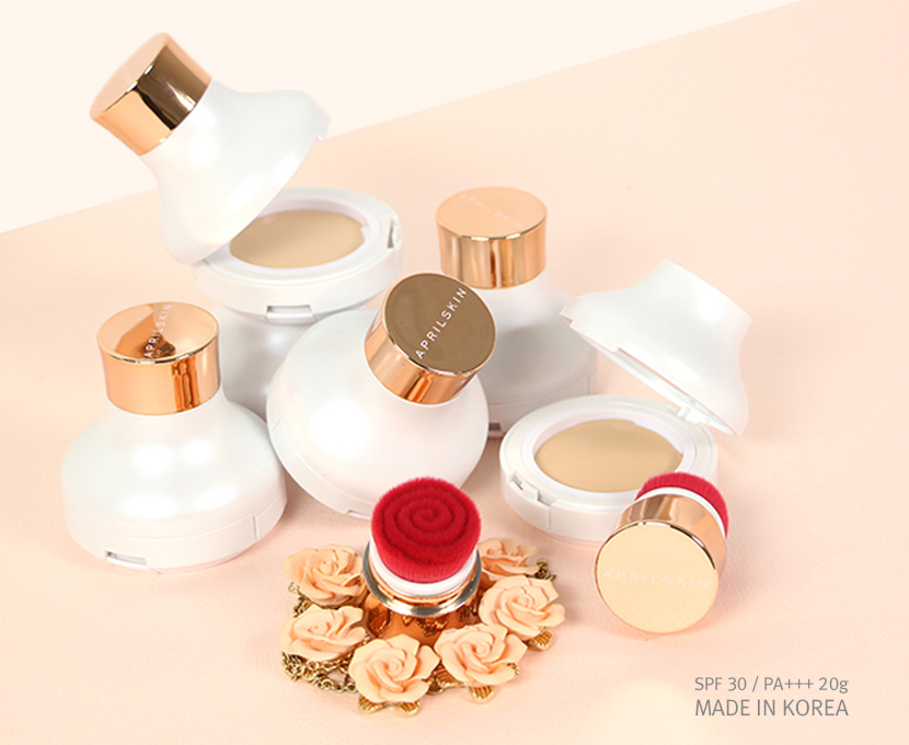 PHẤN TƯƠI APRIL SKIN ROSE GLAM MOISTURE COVER FOUNDATION