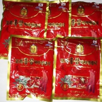 kẹo hồng sâm vitamin 200gr