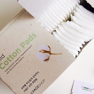 Bông tẩy trang Mild Cotton Pads The Face Shop (80 miếng)
