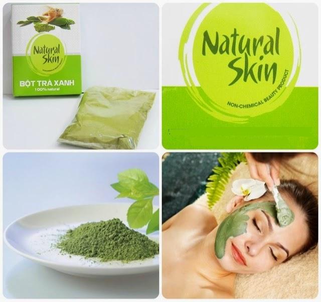 Bột trà xanh Natural Skin (hộp)