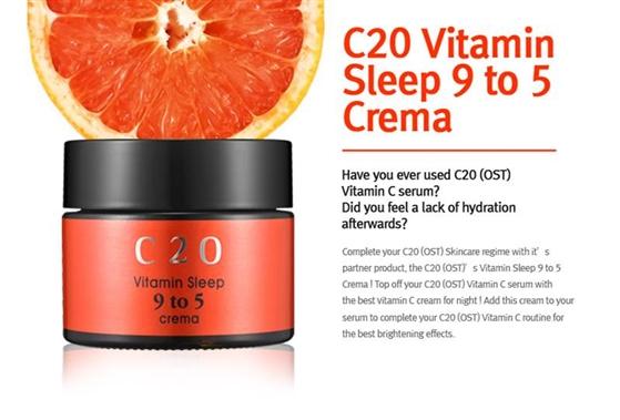 Kem Dưỡng C20 Vitamin Sleep 9 To 5 Crema
