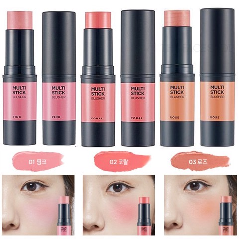 Má hồng thỏi Multi Stick Blusher Rose The Faceshop