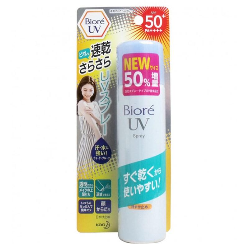 chống nắng dạng xịt Biore SPF50+ Pa++++