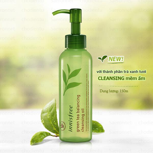 dầu tẩy trang innisfree green tea balancing oil