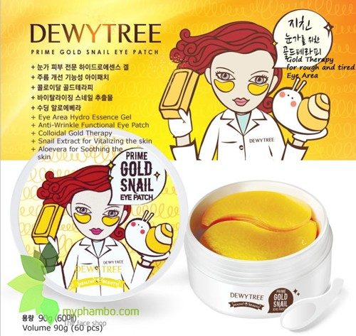 mặt nạ mắt dewytree prime gold