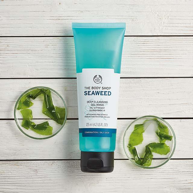 Sữa Rửa Mặt Dạng Gel The Body Shop Seaweed Deep Cleansing Gel Wash (125ml)