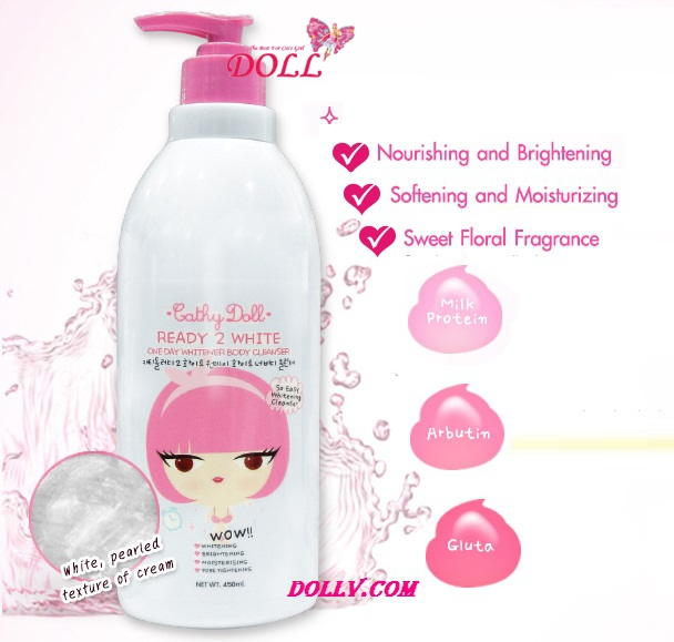 sữa tắm ready 2 white body cleaser 450ml thailand