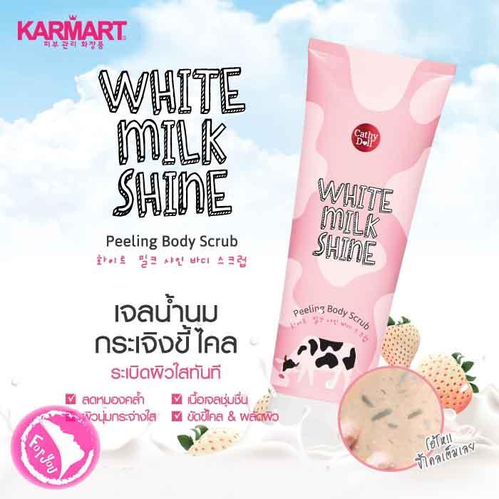 Gel Tẩy Tế Bào Chết Toàn Thân Cathy Doll White Milk Shine Peeling Body Scrub (320ml)