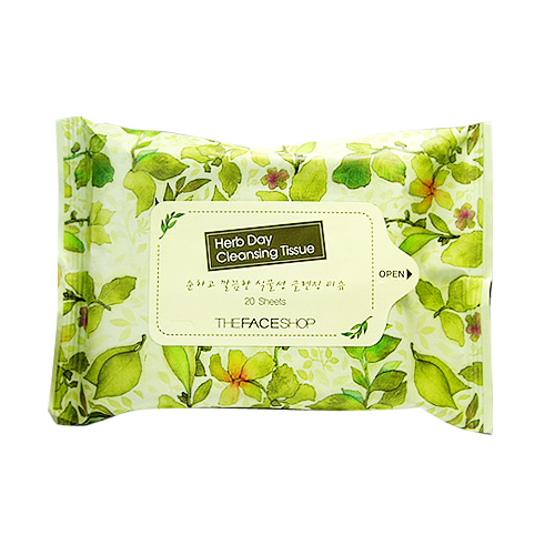 Khăn Ướt Tẩy Trang Herb Day Cleansing Tissue TheFaceShop