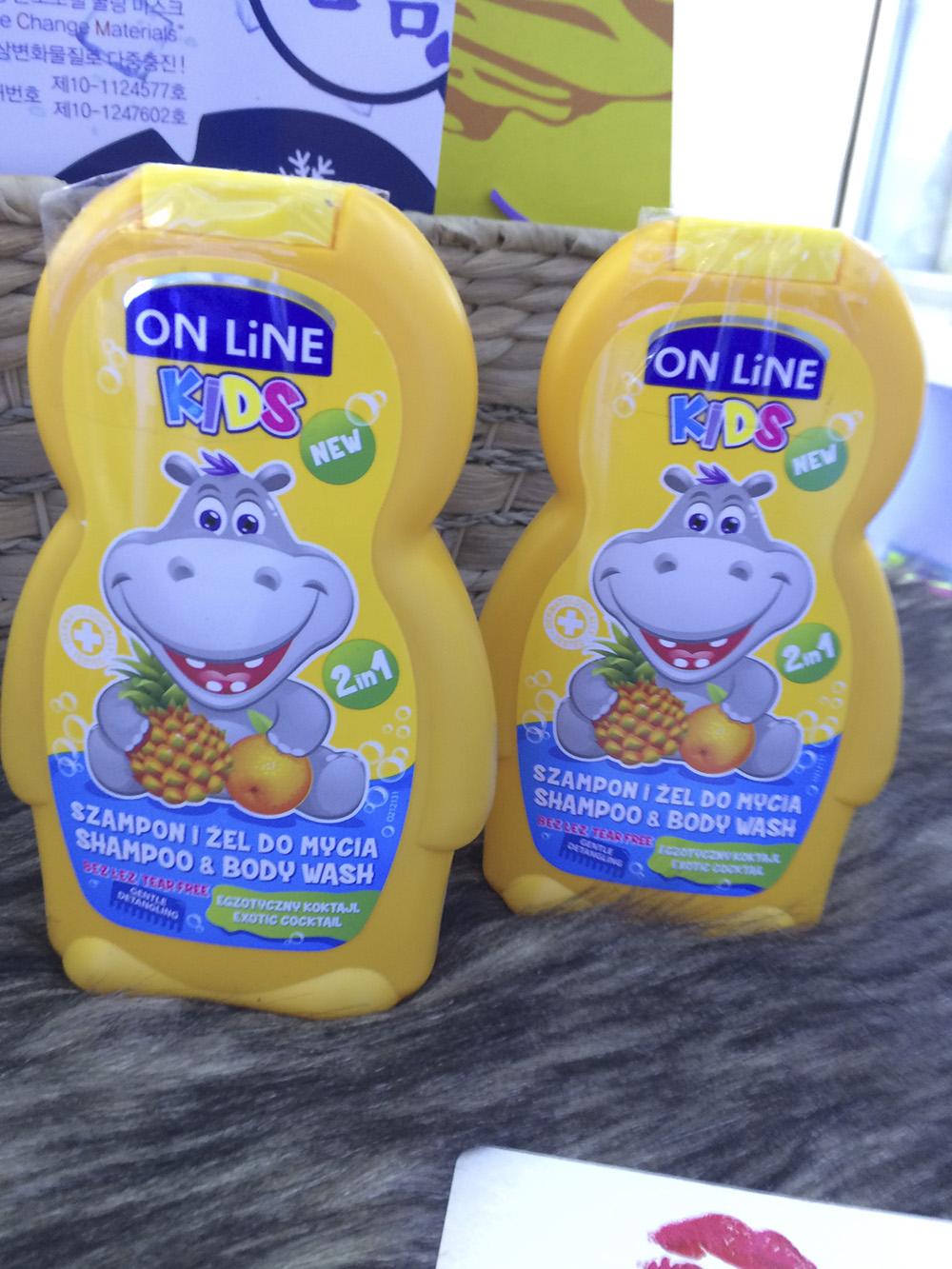 Sữa tắm gội cho bé On line Kids công thức không cay mắt