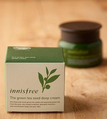 kem dưỡng da greentea seed deep cream innisfree (da thuờng -da hổn hợp hay dùng phòng lạnh)