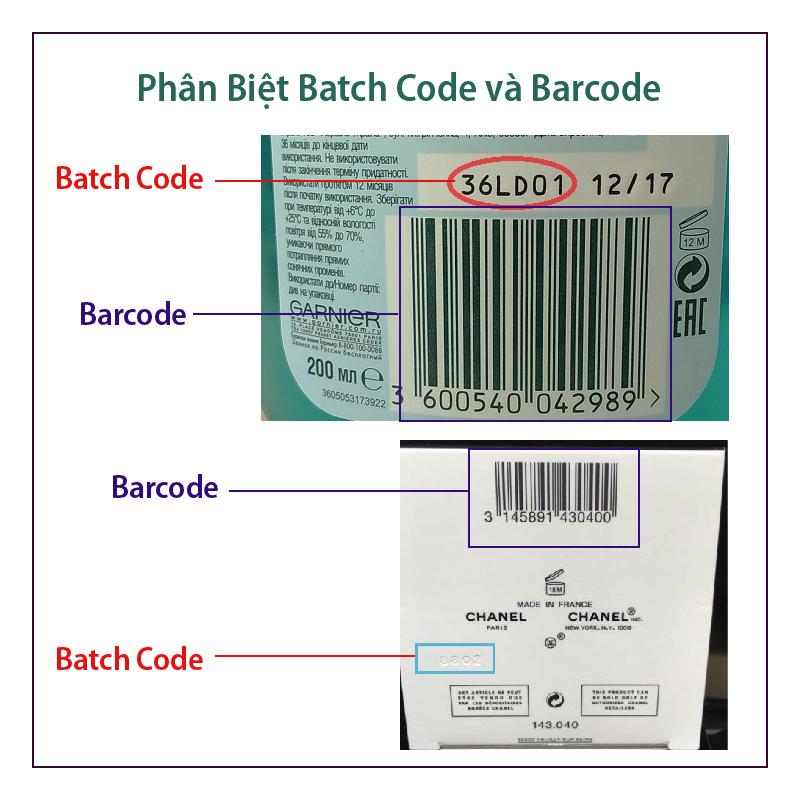 Xem date (thời hạn sử dụng)  các mỹ phẩm Nhập không có đề date trên chai và võ hộp .