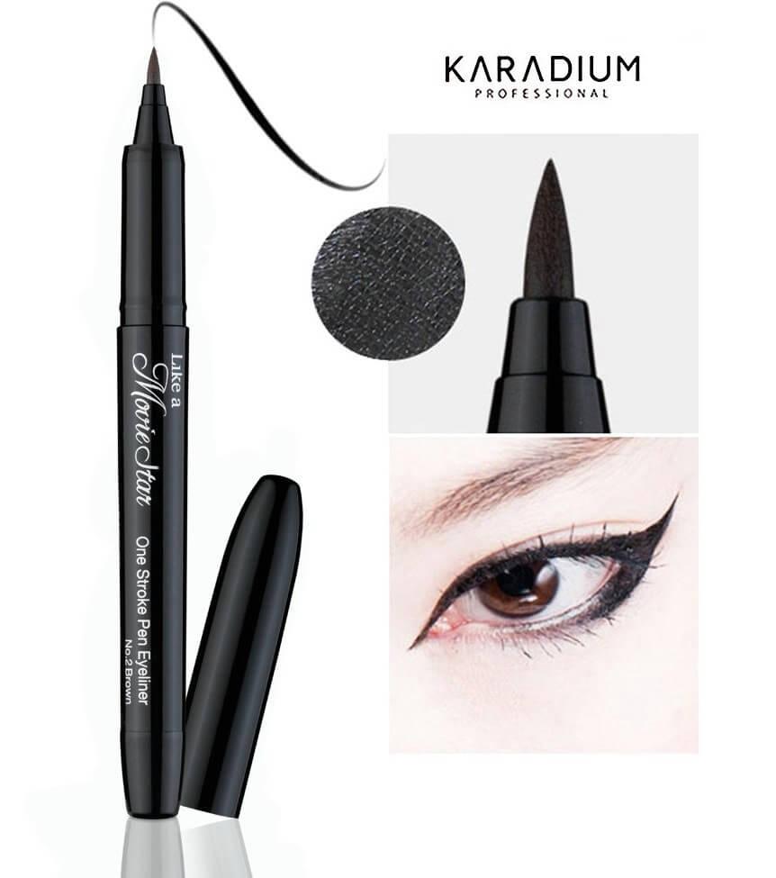 Kẻ mắt Nước Movie Star One Stroke Pen Eyeliner Karadium
