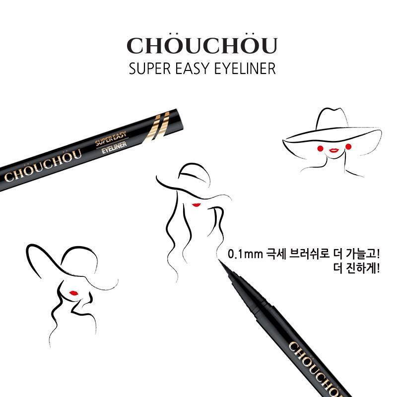 kẻ mắt nước siêu mảnh lâu trôi Chou Chou super easy eyeliner brush