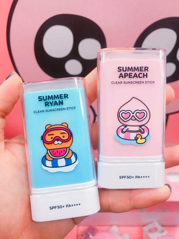 Kem Chống Nắng Dạng Sáp The Face Shop Summer Apeach Ryan Clear Suncreen Stick SPF 50+/ PA++++