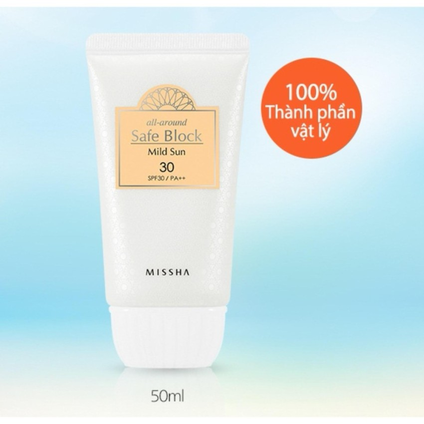 Kem Chống Nắng Missha All Around Safe Block Mild Sun SPF30 PA++