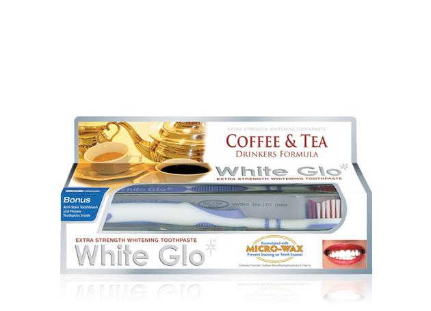 kem đánh răng white glo coffee & tea 100ml