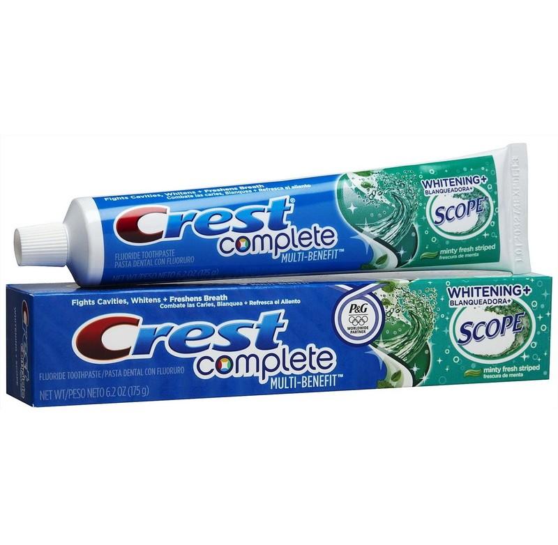 Kem đánh răng Crest Complete Multi Benefit Whitening 232g
