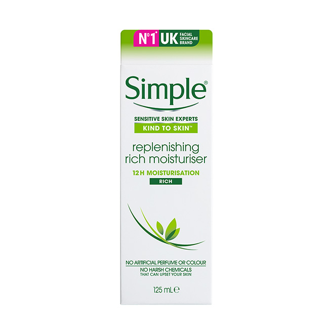 Kem dưỡng ẩm Simple Kind To Skin Replenishing Rich Moisturiser 125ml