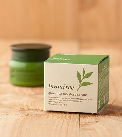 kem dưỡng innisfree green tea moisture cream (da khô)