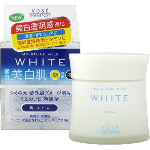kem dưỡng trắng da Nhật kose moisture mild white cream 55g