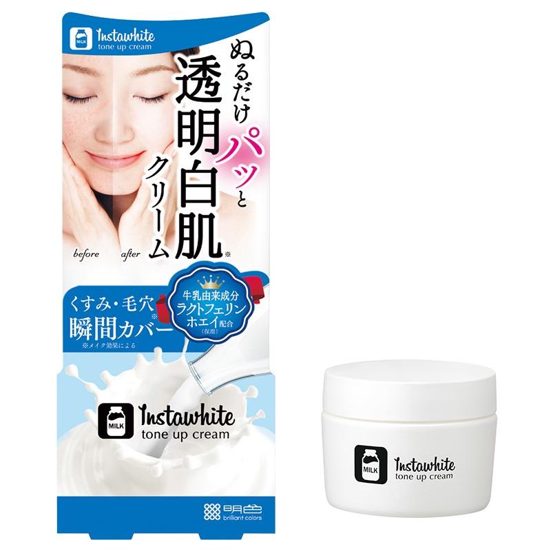 Kem dưỡng trắng da Instawhite tone up cream Meishoku Nhật Bản(50g)