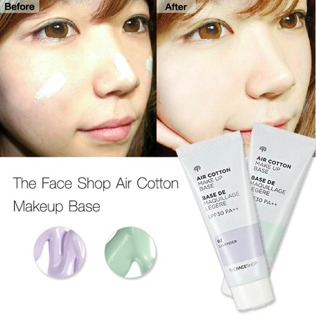 Kem lót Air Cotton Make Up Base The Face Shop