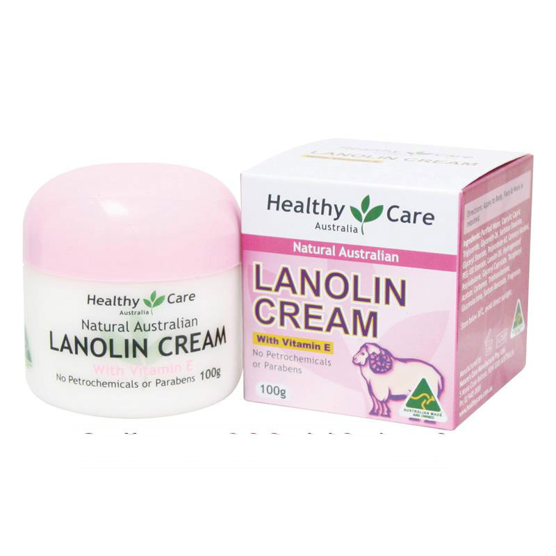 Kem nhau thai cừu Healthy Care Natural Lanolin  Vitamin E Cream 100g
