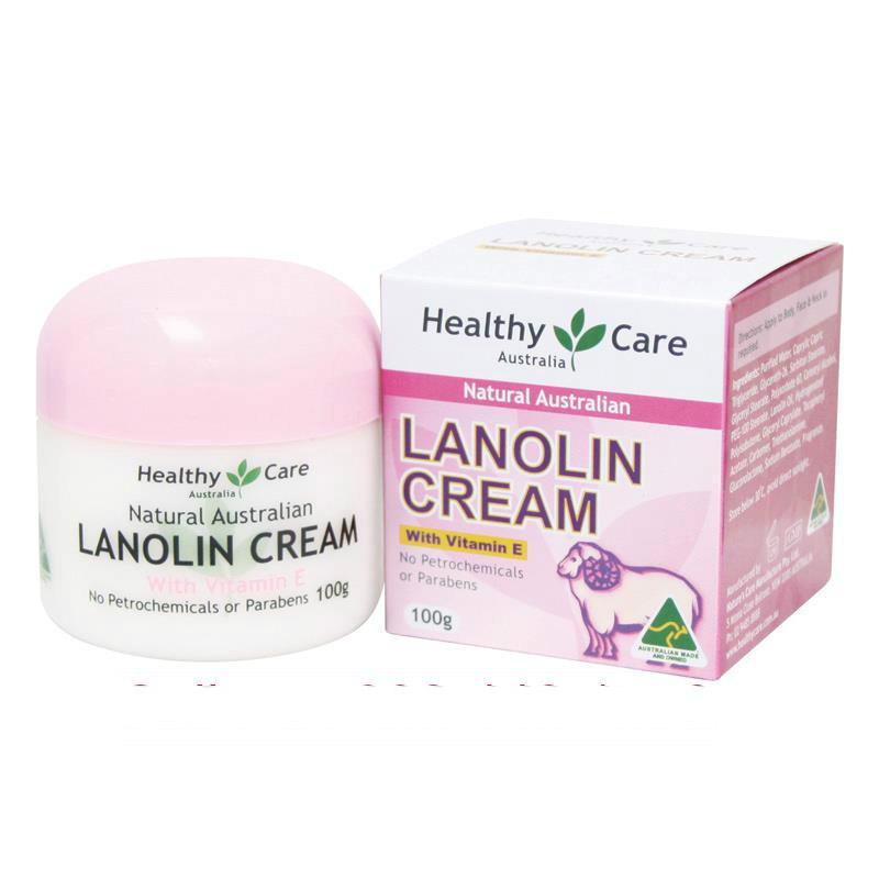 Kem nhau thai cừu Healthy Care Natural Lanolin  Vitamin E Cream 100g