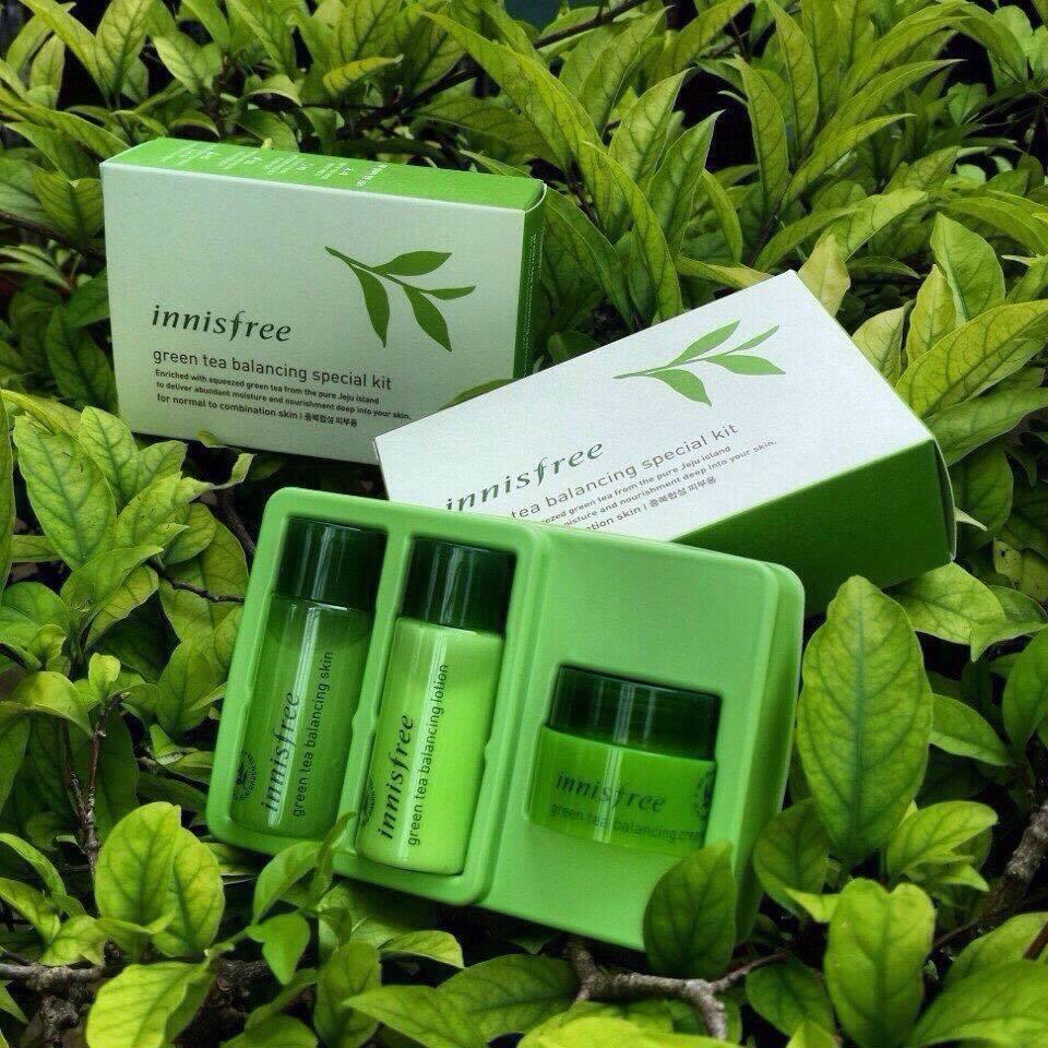 Kit Trà Xanh (mini) 3 Món Dành Cho Da Dầu, Hỗn Hợp Green Tea Balancing Special Kit