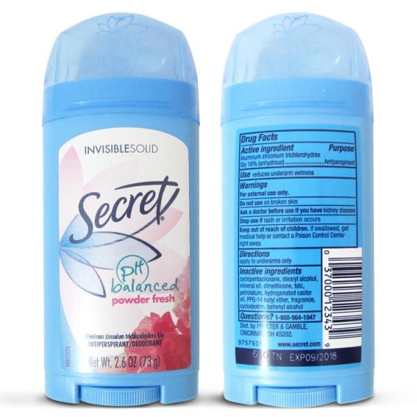 Lăn Khữ Mùi Secret Balancing Powder Fresh 73g