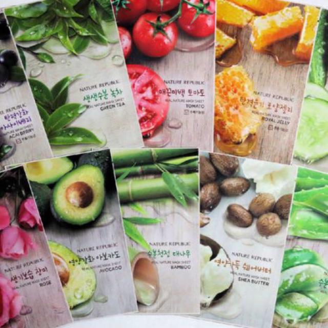 Mặt Nạ Giấy Nature Republic Real Nature Mask Sheet