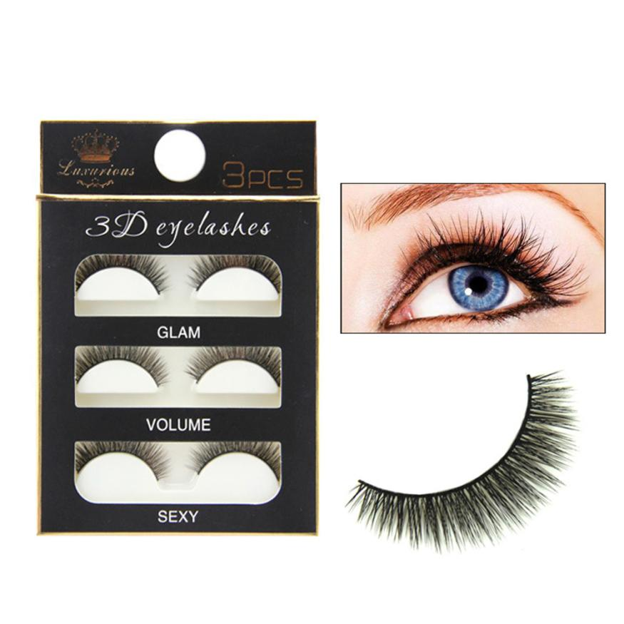Mi Chồn 3D 3PCS 3 Fashion Eyelashes