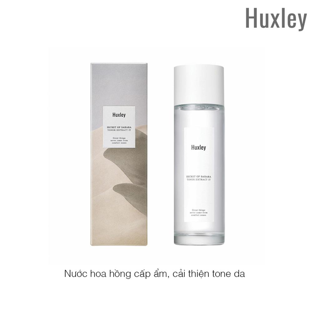 NƯỚC HOA HỒNG CẤP ẨM, CẢI THIỆN TONE DA HUXLEY TONER EXTRACT IT 120ML