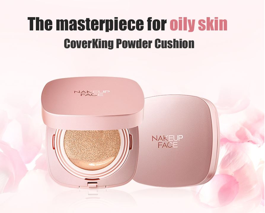 Phấn Nước NAKEUP FACE Coverking Powder Cushion (Vỏ Hồng)