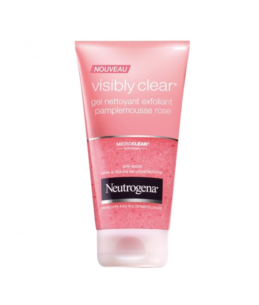 Sữa rửa mặt Neutrogena Visibly Clear Gel Nettoyant Exfoliant Pamplemousse Rose