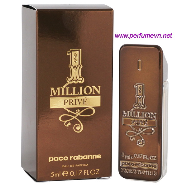 nuớc hoa mini million prive paco rabanne EDT 5ml