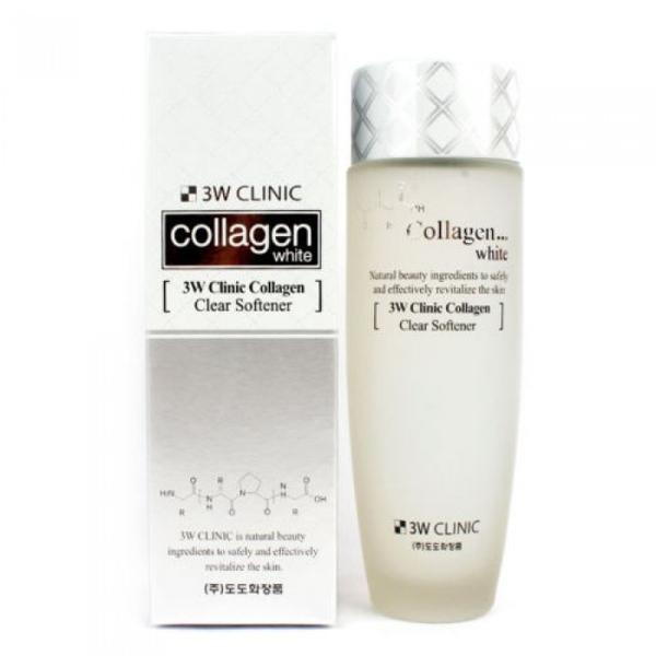Nước hoa hồng 3W Clinic Collagen White làm sánh da