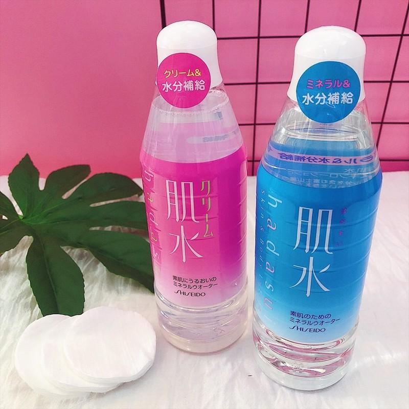 Nước khoáng hoa hồng Shiseido Hadasui (màu hồng , xanh 400ml)