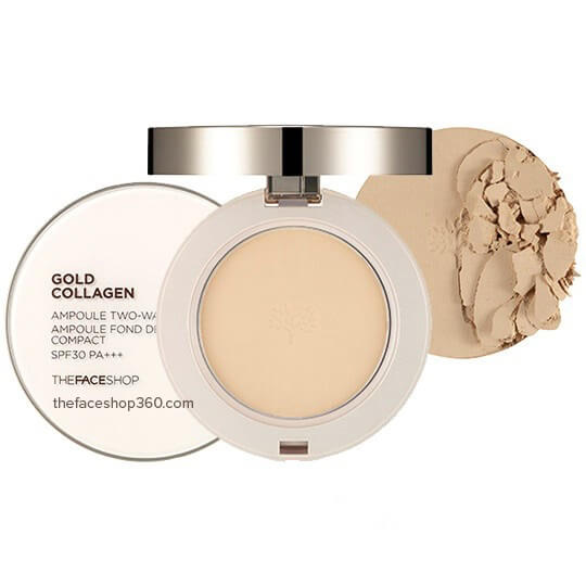Phấn Phủ Siêu Mịn Gold Collagen Ampoule Two-way Pact SPF30++