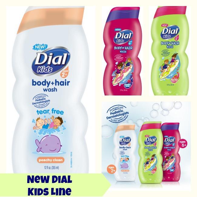 Tắm gội Dial Kids 355ml (Trắng và xanh)