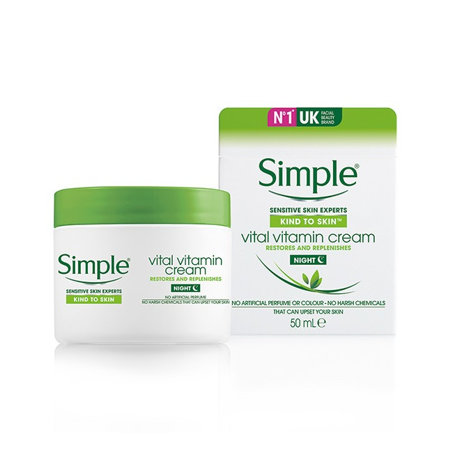 Kem Dưỡng Da Ban Đêm Simple Vital Vitamin Night Restores And Replenishes (50ml)
