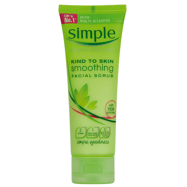 Tẩy Tế Bào Chết mặt Simple Kind To Skin Smoothing Facial Scrub (75ml)