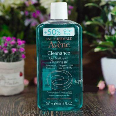 sữa rửa mặt Avène Cleanance Gel 300 ml cho da dầu, mụn, nhạy cảm