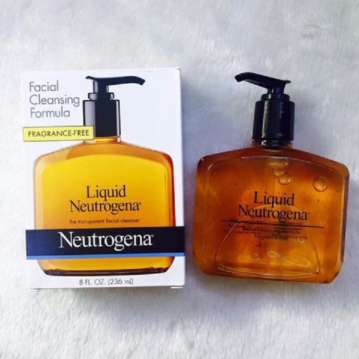 gel rửa mặt  neutrogena liquid chai vuông 236ml