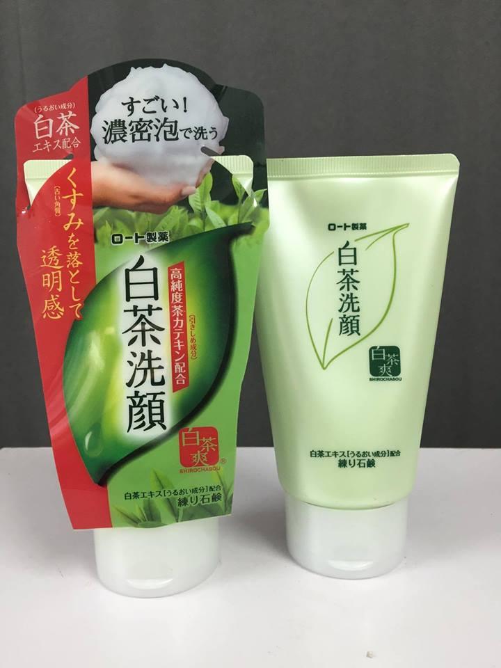 Sữa rửa mặt trà xanh Rohto Shirochasou green tea foam 120g