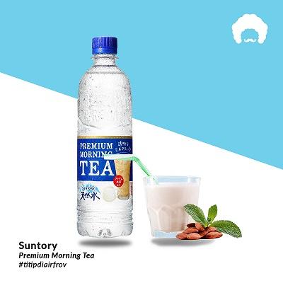 Nước lọc vị trà sữa Premium Morning Tea Suntory Nhật Bản  Chai 550ml
